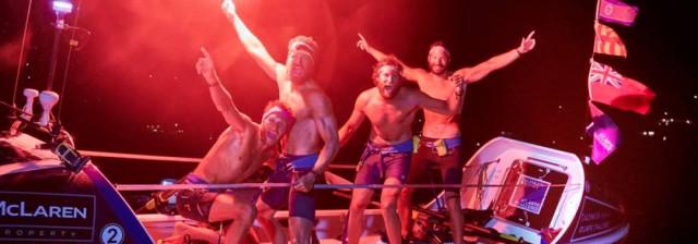 The Four Oarsmen win the race