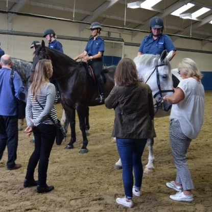 Group with Met Police horses