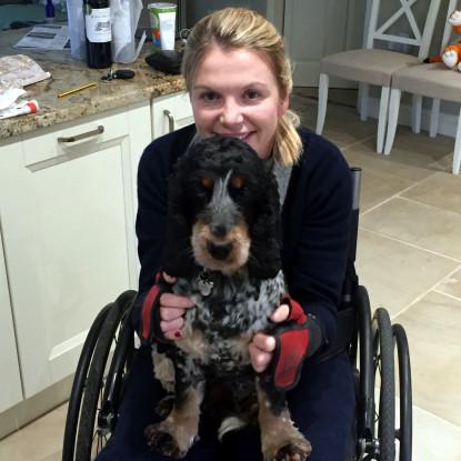 Tara and her dog