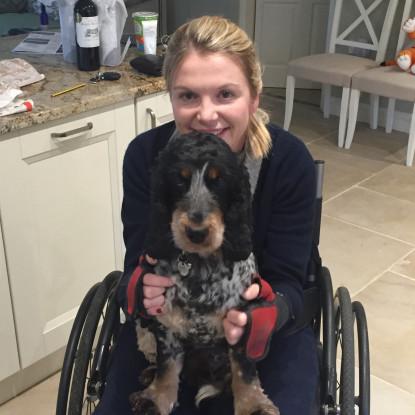 Tara and her dog Bramham