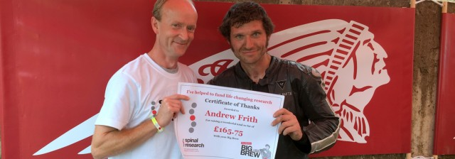 Guy Martin with Big Brew winner Andrew Frith