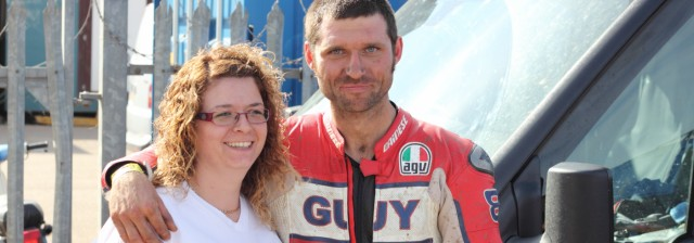Guy Martin and a Spinal Research supporter
